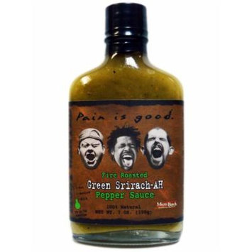 Pain Is Good Most Wanted Fire Roasted Green Sriracha Hot Sauce (Pack of 3)
