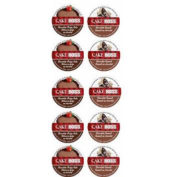 10 Cup Cake Boss® Flavored Coffee Sampler! 2 New Flavors! Chocolate Cannoli & Chocolate Fudge Cake
