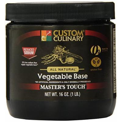 Custom Culinary Master's Touch All Natural, Gluten Free Reduced Sodium Base, Vegetable, 1 Pound