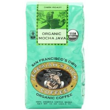 Jeremiah's Pick Coffee Organic Mocha Java, Dark Roast Whole Bean Coffee, 10-Ounce Bags (Pack of 3)