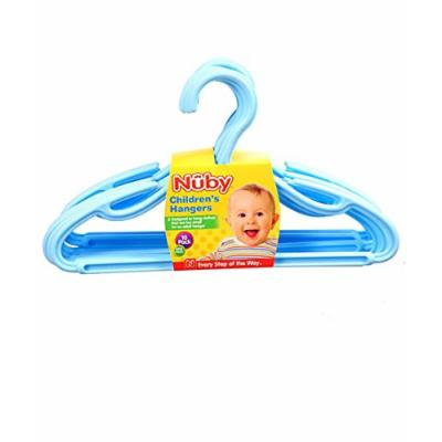 Nuby 10-Pack Children's Hangers - blue, one size