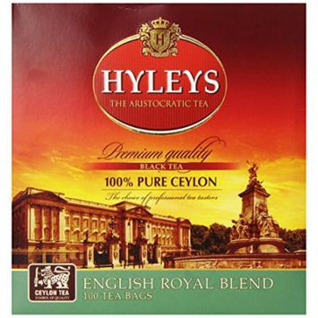 Hyleys Tea English Special Blend Black Tea, 100-Count Bags (Pack of 6)