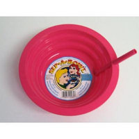 Pink Sip-A-Bowl Cereal Bowl with Straw