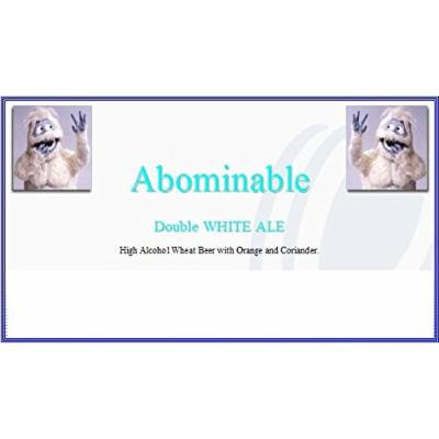 Strange Brew Home-Brew Beer Brewing Recipe Kit: Abominable Double White Ale
