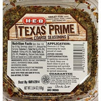 HEB Meat Seasoning 3.54-4.75 Oz (Pack of 4) (Texas Prime Coarse Seasoning 3.54 Oz)