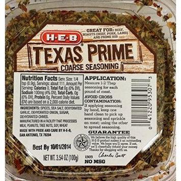 HEB Meat Seasoning 3.54-4.75 Oz (Pack of 4) (Texas Prime Coarse Seasoning 3.54 Oz)