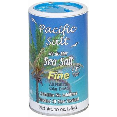 Pacific Salt Fine New Zealand Sea Salt, 10-Ounce (Pack of 6)