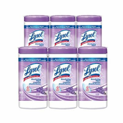Lysol Tough Cleaning Power Disinfecting Wipes, Early Morning Breeze Scent, 80 Count (Pack of 6)