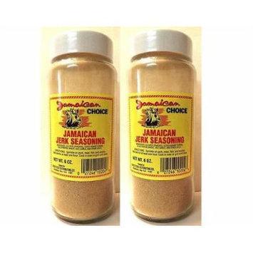 Jamaican Choice Jamaican Jerk Seasoning (Pack of 2) 6 oz Bottles