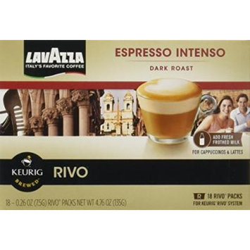 Lavazza Intenso, Espresso Packs for Keurig Rivo Systems,18 CT-Pack of (4)