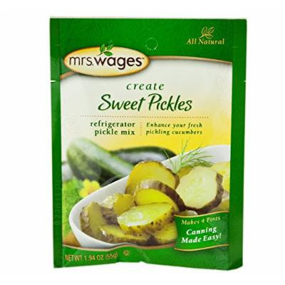 Mrs. Wages Refrigerator Sweet Pickle Seasoning Mix, 1.94 Oz. Pouch (Case of 12)