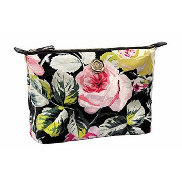 Anna Griffin Large Grace Black Floral Collection Cosmetic Bag