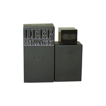 Deep Black Eau De Toilette Spray for Men, 3.4 Ounce