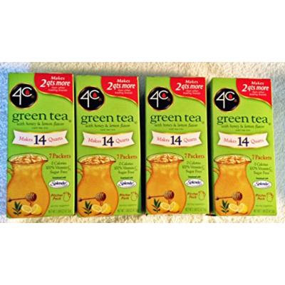 4C Green Tea with Honey and Lemon Flavor iced tea mix (Boxes.)