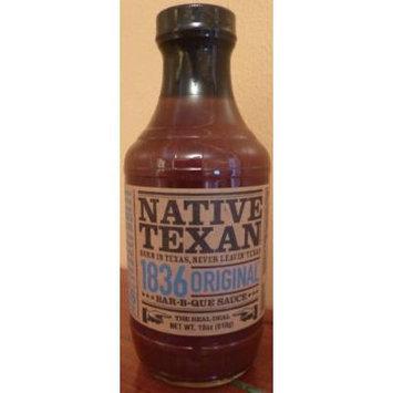 Native Texan BBQ Sauce 18oz Bottle (Pack of 3) (1836 Original)