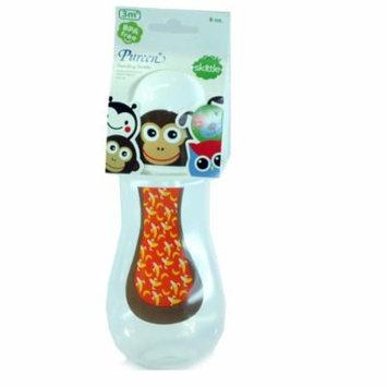 New Pureen Skittle Baby Feeding Bottle BPA Free 8 oz with nipple size M for 3 months+ (Monkey)