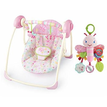 Bright Starts Flutter Dot Portable Swing with Flutter Friend