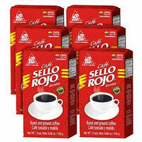 Sello Rojo Roast & Ground Coffee, 8.8-ounce Brick (Pack of 6)