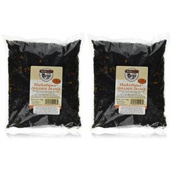 MarketSpice Cinnamon Orange Tea, 1 lb Bags in a BlackTie Box (Pack of 2)