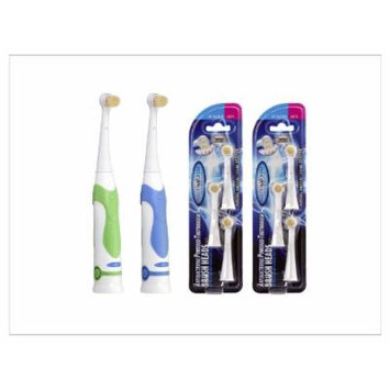 Mouth Watchers Antimicrobial Powered Toothbrush - Value Pack