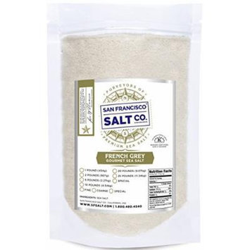 French Grey Sea Salt, pure & natural sea salt from France (5lb Bag Fine Grain)