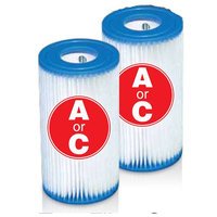 Intex Easy Set Pool Type A Filter Cartridges Twin Pack / 29002E