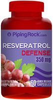 Piping Rock Resveratrol 350mg 60 Capules
