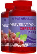 Piping Rock Resveratrol 350mg 2 x 60 Capsules