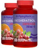 Piping Rock Resveratrol Defense 250 mg plus C 2 Bottles x 90 Capsules