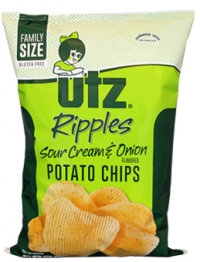 Utz Ripple Cut Sour Cream & Onion Flavored Potato Chips