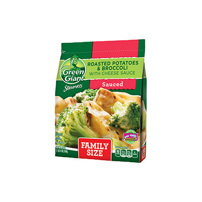 Green Giant® Steamers Roasted Potatoes & Broccoli With Cheese Sauce