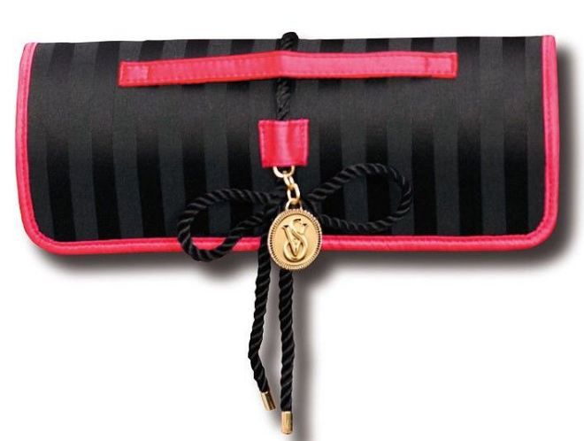 Victoria's Secret Limited Edition Black Roll-Up Makeup Bag