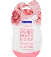 Freeman Feeling Beautiful Facial Brightening Paper Mask, Rose