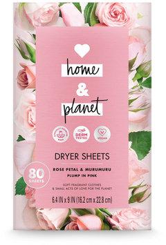 Love Home & Planet Rose Petal & Murumuru Dryer Sheets