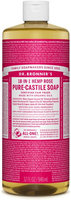 Dr. Bronner's 18-in-1 Hemp Rose Pure - Castile Soap