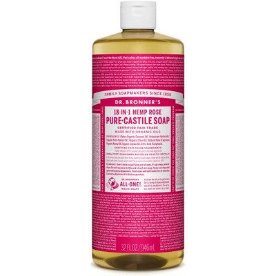 Dr. Bronner's 18-in-1 Hemp Rose Pure - Castile Soap
