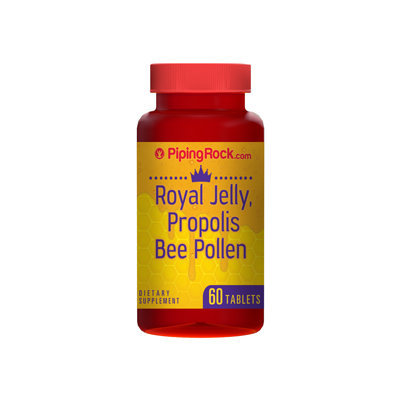 Piping Rock Royal Jelly Propolis & Bee Pollen 60 Tablets
