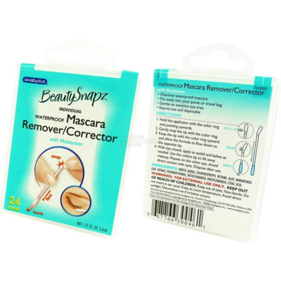 Swab-plus Beauty Snapz  Waterproof Mascara Remover/Corrector