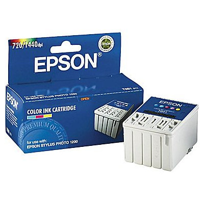 Epson EPST001011 T001011 Tri-Color Ink Cartridge, 330 Page Yield