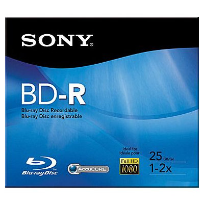 Sony Single 25GB Recordable Blu-Ray Disc