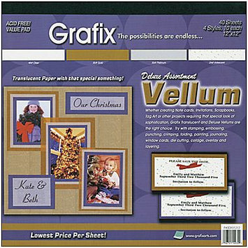 GRAFIX Vellum Value Pack 12
