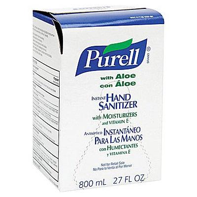 Purell 9637 Instant Hand Sanitizer 800-ml Refill- Aloe- 12/Carton