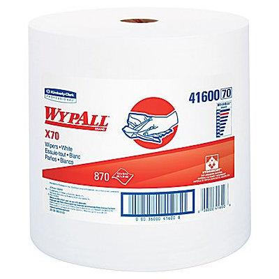 Zinactive Kimberly Clark Kimberly-Clark Professional KIM41600 White WYPALL X70 Wipers Jumbo