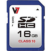 V7 16GB Secure Digital High Capacity (SDHC) - 1 Card - Retail