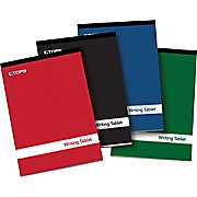 Cardinal Brands E80228 Glue Top Writing Tablet Gregg Rule 6 X 9 100 Sheets/pad 4 Pads/pack