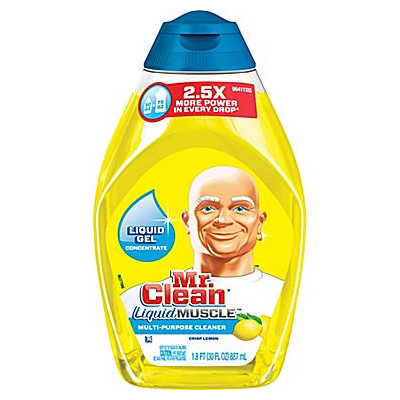Mr. Clean(R) Liquid Muscle Cleaner, Lemon, 30 Oz, Case Of 4