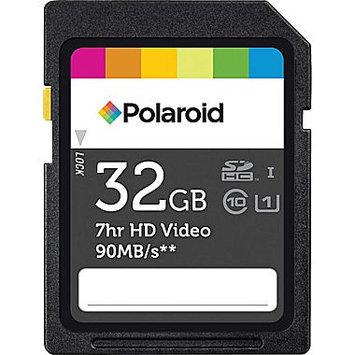 Polaroid - 32GB Secure Digital High Capacity (SDHC) Class 10 Memory Card