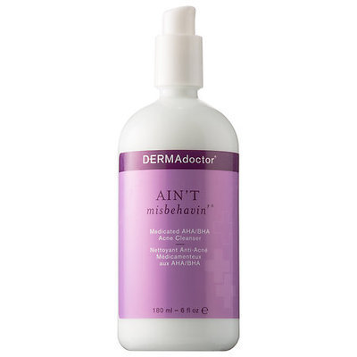 DERMAdoctor Ain't Misbehavin' Medicated AHA/BHA Acne Cleanser