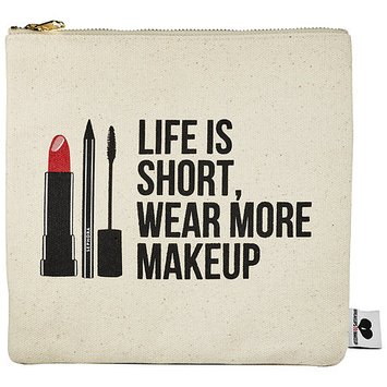 SEPHORA COLLECTION Breakups To Makeup Bag Life is Short, Wear More Makeup 8.5