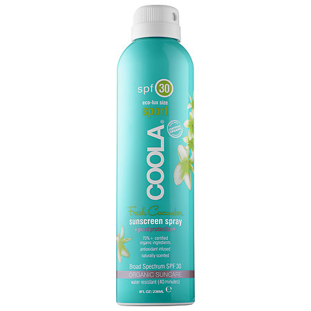 Coola Sport Continuous Spray SPF 30 - Fresh Cucumber 8 oz